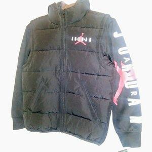 Air Jordan Nike Youth Boys Sz Med Vest Hoodie Swea